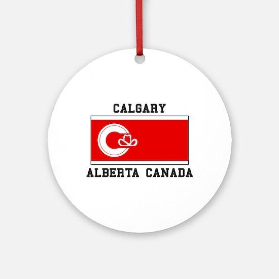 Calgary Alberta Canada Ornament (Round)