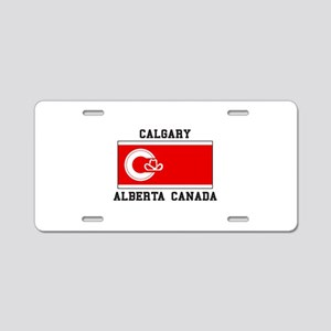 Calgary Alberta Canada Aluminum License Plate