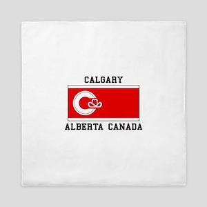 Calgary Alberta Canada Queen Duvet