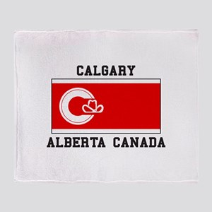 Calgary Alberta Canada Throw Blanket