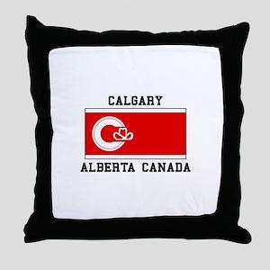 Calgary Alberta Canada Throw Pillow