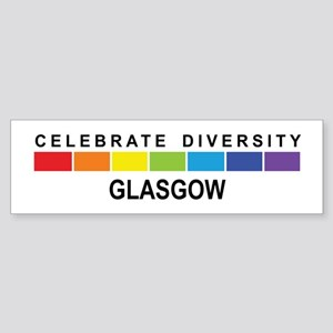 GLASGOW - Celebrate Diversity Bumper Sticker