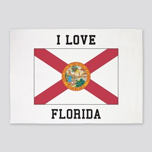 I Love Florida 5'x7'Area Rug