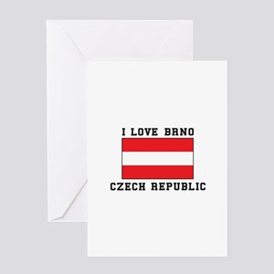 I Love Brno Czech Republic Greeting Cards