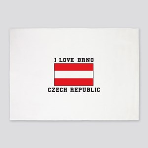 I Love Brno Czech Republic 5'x7'Area Rug