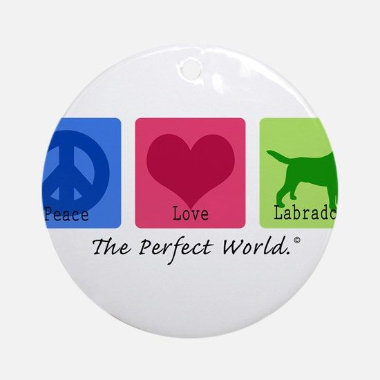 Peace Love Labs Ornament (Round)