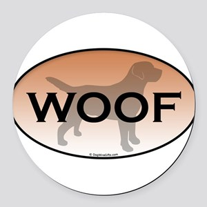 Woof Round Car Magnet