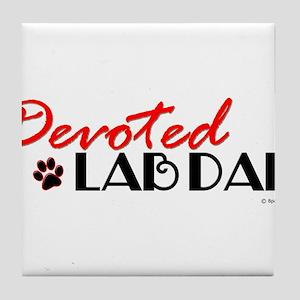 Devoted Lab Dad Tile Coaster