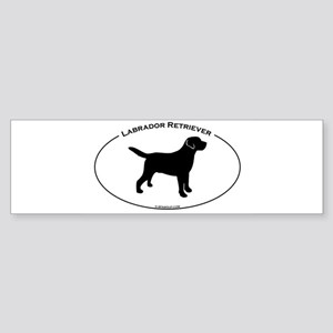 Labrador Oval Text Sticker (Bumper)