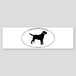 Labrador Oval Text Sticker (Bumper)
