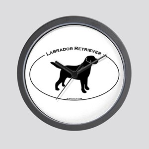 Labrador Oval Text Wall Clock