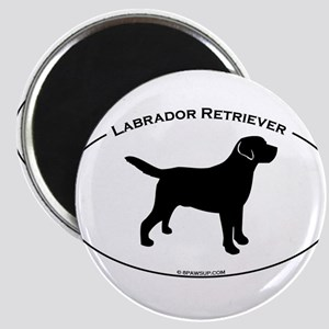 Labrador Oval Text Magnet