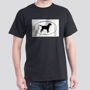 Labrador Oval Text Dark T-Shirt