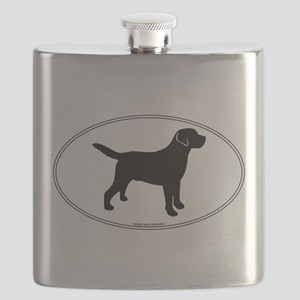 Black Lab Outline Flask