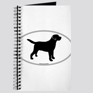 Black Lab Outline Journal