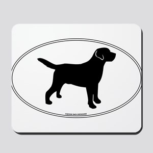 Black Lab Outline Mousepad