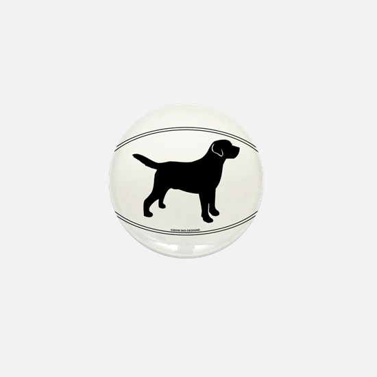 Black Lab Outline Mini Button