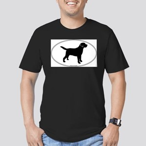 Black Lab Outline Men's Fitted T-Shirt (dark)