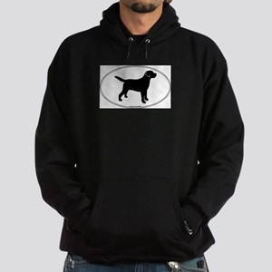 Black Lab Outline Hoodie (dark)