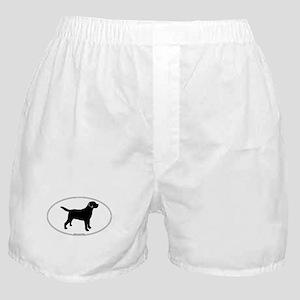 Black Lab Outline Boxer Shorts
