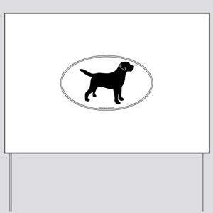 Black Lab Outline Yard Sign