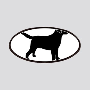 Black Lab Outline Patch