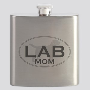 Labrador Mom II Flask