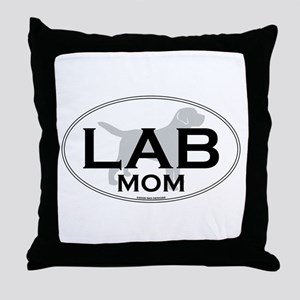 Labrador Mom II Throw Pillow