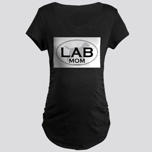 Labrador Mom II Maternity Dark T-Shirt