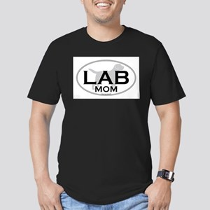 Labrador Mom II Men's Fitted T-Shirt (dark)