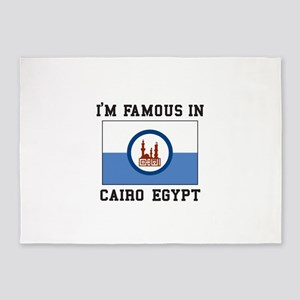 """I""""M Famous In Cairo Egypt 5'x7'Area Rug"""