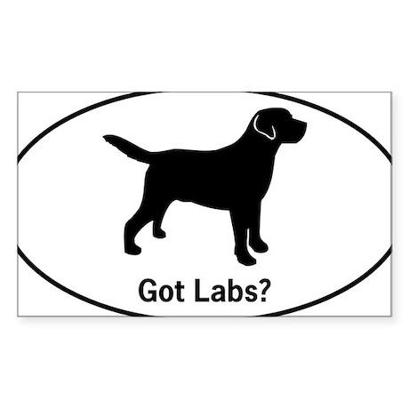 Got Labs? Silhouette Sticker (Rectangle)