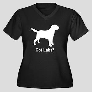 Got Labs? Silhouette Women's Plus Size V-Neck Dark