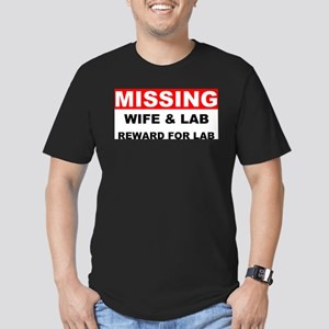Missing Wife Lab Men's Fitted T-Shirt (dark)