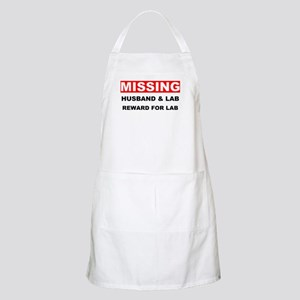 Missing Husband Lab Apron