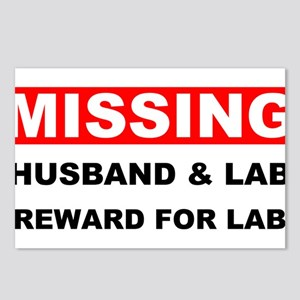 Missing Husband Lab Postcards (Package of 8)