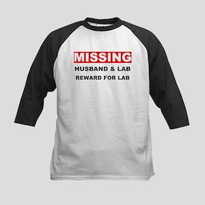 Missing Husband Lab Kids Baseball Jersey