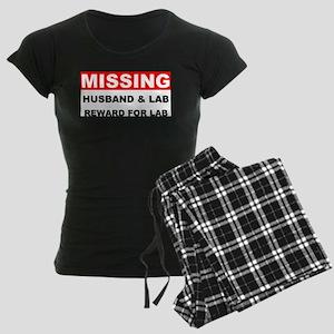 Missing Husband Lab Women's Dark Pajamas