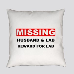 Missing Husband Lab Everyday Pillow