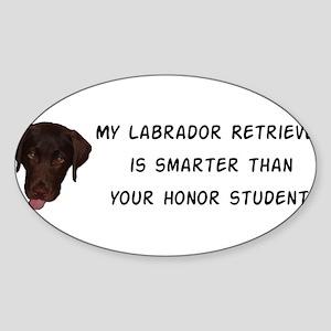 Smart Labrador Retriever Sticker (Oval)