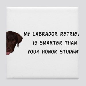 Smart Labrador Retriever Tile Coaster
