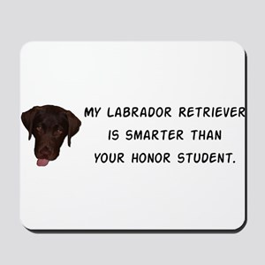 Smart Labrador Retriever Mousepad