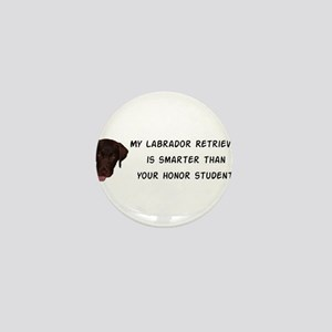 Smart Labrador Retriever Mini Button