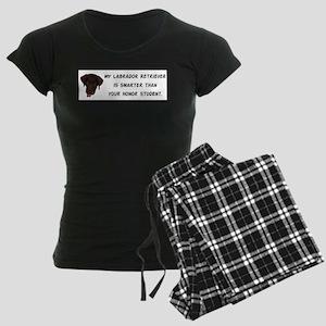 Smart Labrador Retriever Women's Dark Pajamas