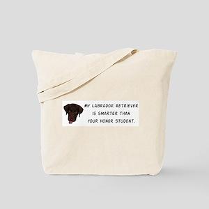 Smart Labrador Retriever Tote Bag