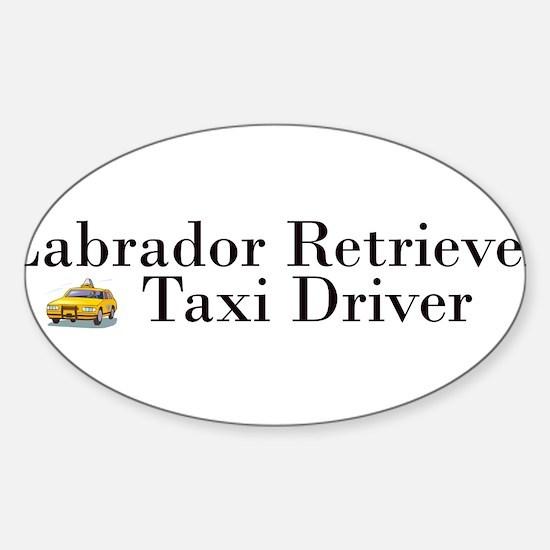 AllLabTaxiDriver.png Sticker (Oval)