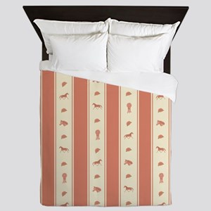 Whimsical Show Pony Horse Pattern Queen Duvet