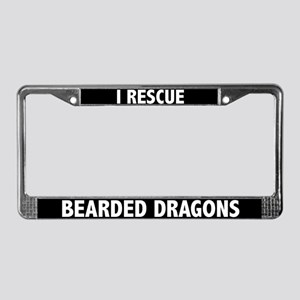 Rescue Bearded Dragons License Plate Frame