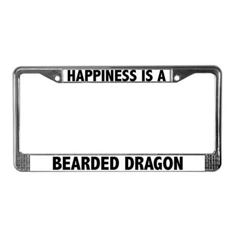 Happiness Is A Bearded Dragon License Plate Frame