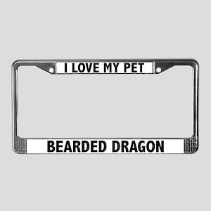 I Love My Pet Bearded Dragon License Plate Frame